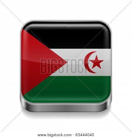 Metal  icon of Sahrawi Arab Democratic Republic