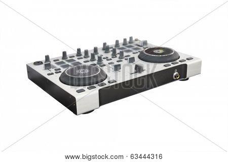 DJ controller under the white background