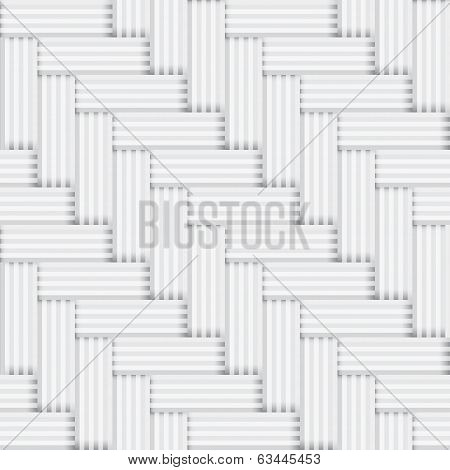 Vector Seamless Square White And Black Pattern - Vintage Parquet Background