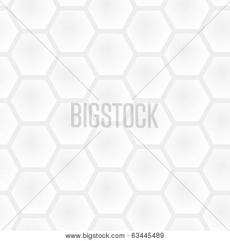 Vector Seamless Honeycomb Light Gray Pattern - White And Black Simple Graphic Modern Background
