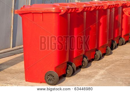 Large trash cans (garbage bins)