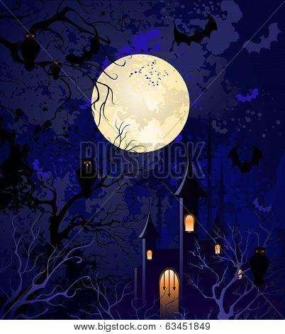 Moonlit Night On Halloween