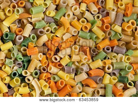 Indian Snack As A Colorful Pattern