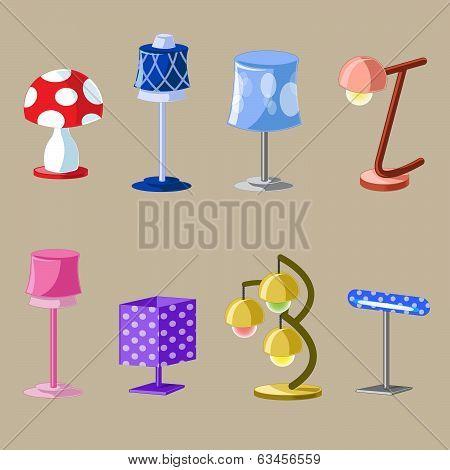 Set of Lampshades Different Design