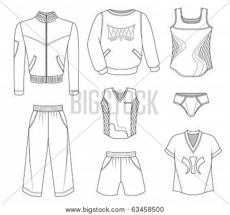 Man Set Tricot Clothes