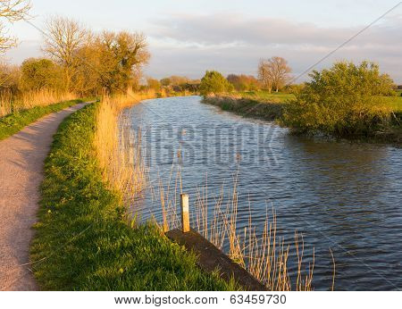 English canal Bridgwater and Taunton Somerset England UK peaceful waterway in the west country