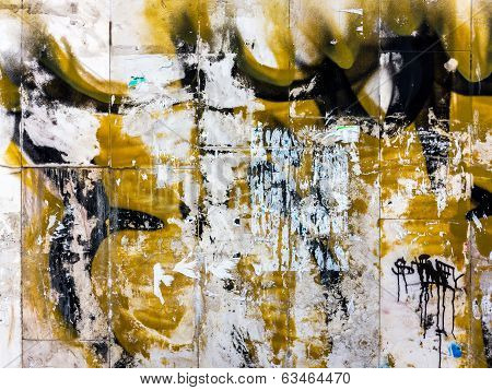 Grunge Background, Divorces And Paint On A Concrete Wall Abstract Figures (made By Author)