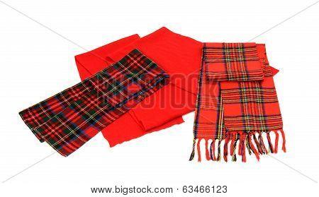 Cute winter tartan scarves with fringe