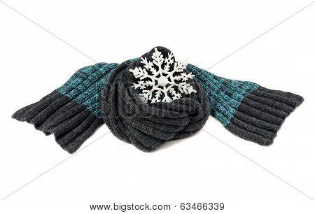 Man winter scarf.