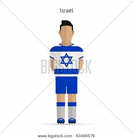 Israel football player. Soccer uniform.