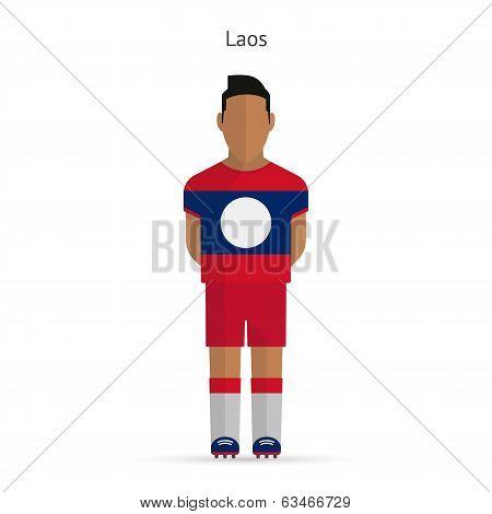 Laos football player. Soccer uniform.