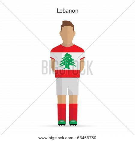 Lebanon football player. Soccer uniform.
