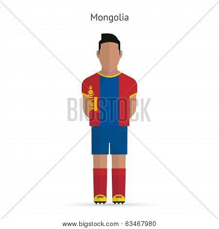 Mongolia football player. Soccer uniform.