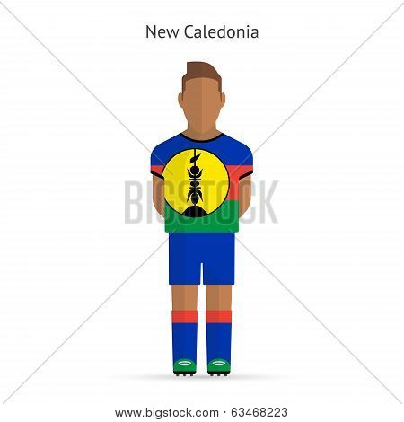 New Caledonia football player. Soccer uniform.