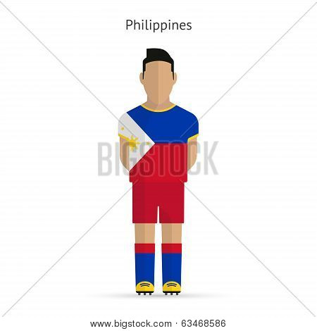 Philippines football player. Soccer uniform.
