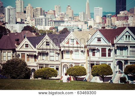 Alamo Square, San Francisco, Usa