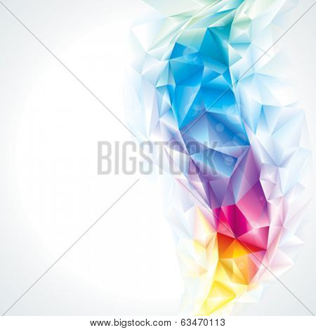 Abstract polygonal crystal colors background, vector.