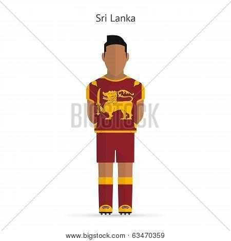 Sri Lanka football player. Soccer uniform.