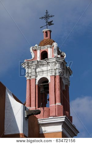 Pink Church in Puebla, Mexico