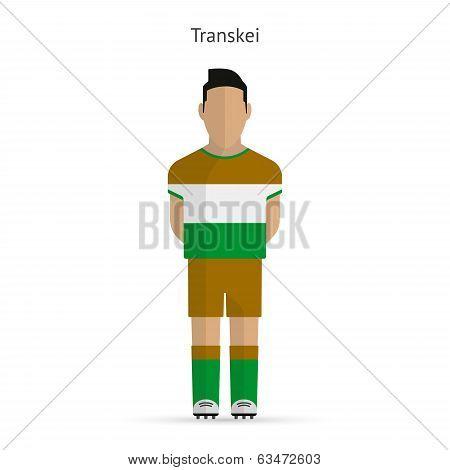 Transkei football player. Soccer uniform.