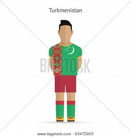 Turkmenistan football player. Soccer uniform.