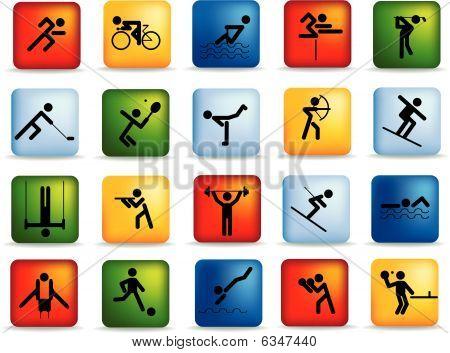 Sports Figures icon set