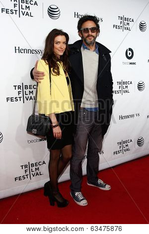 NEW YORK-APR 16: Ben Younger (R) and Anna Christina Schwartz at the world premiere of