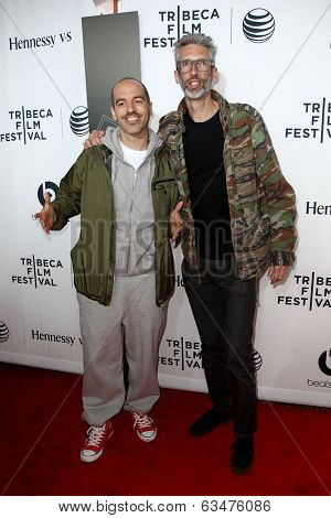 NEW YORK-APR 16: Bobbito Garcia (L) and Stretch Armstrong at the world premiere of