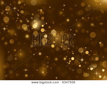 Magic sparkle, light dots; vector bokeh effect