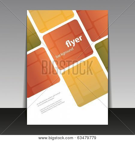 Flyer or Cover Design with Abstract Checkered Pattern