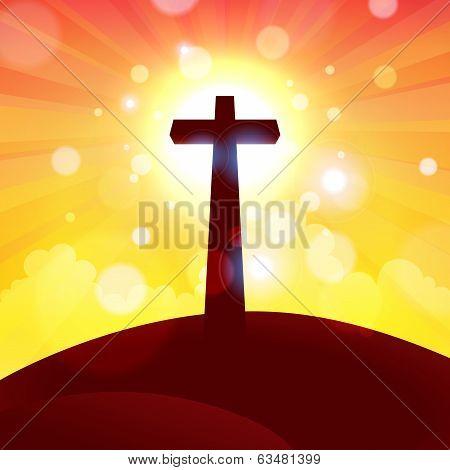 Glorious Cross At Sunset