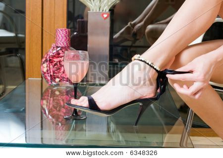 Black Spike Heel