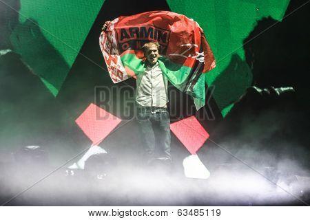 MINSK, BELARUS - FEBRUARY 21: Members of ARMIN ONLY: Intense show with Armin van Buuren in Minsk-Are