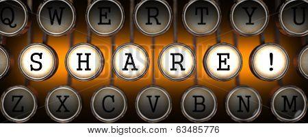 Share on Old Typewriter's Keys.