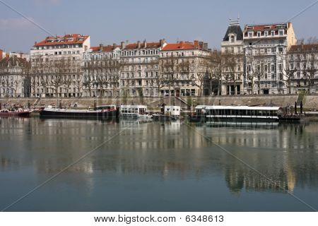 Rhone River In Lyon