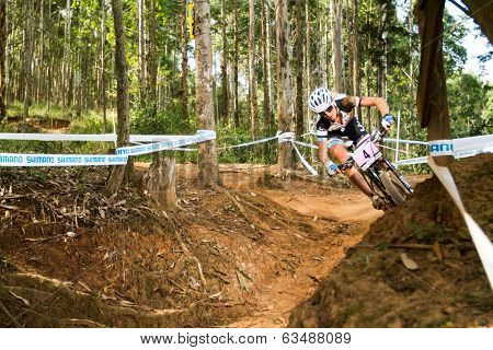 Cornering on a berm