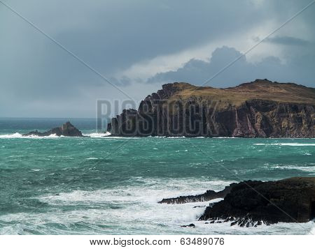 Dingle Peninsula Ireland On Cloudy Day