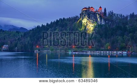 Blue Hour On Lake Bled