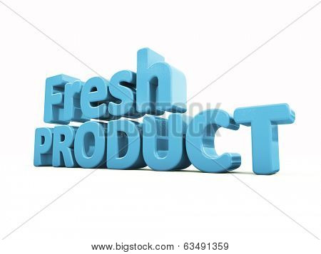 Fresh Product icon on a white background. 3D illustration