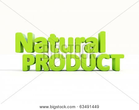 Natural Product icon on a white background. 3D illustration