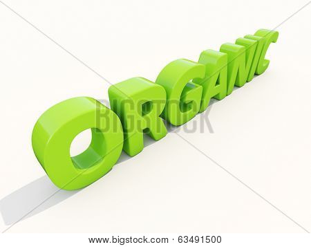Organic icon on a white background. 3D illustration