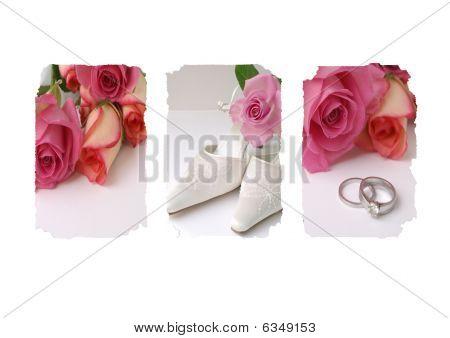wedding day Rose Bridal triptych