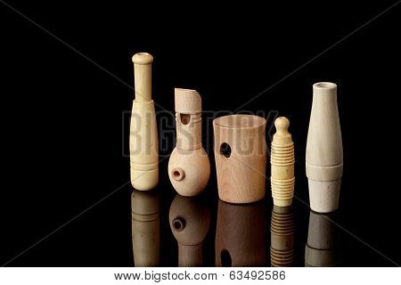 Wooden Whistles For Calling Ducks And Other Birds