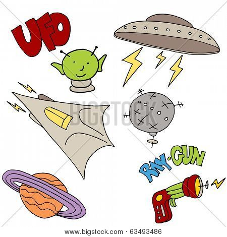 An image of alien objects.