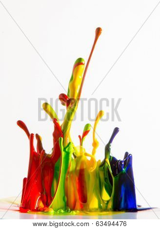 ink splash isolated on white background