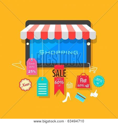 illustration of online shopping and sale concept