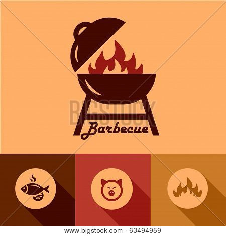 barbecue design elements