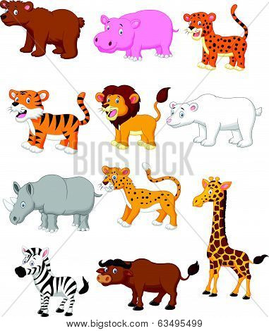 Wild animal cartoon