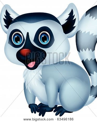 Cute lemur cartoon