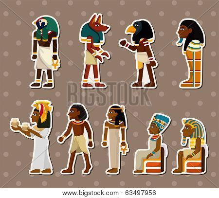 Cartoon Pharaoh Stickers